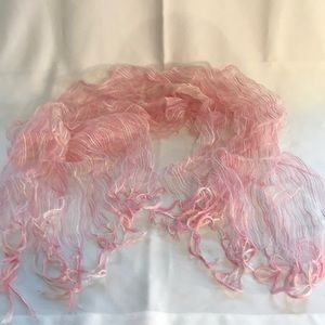 Pink gauzy scarf